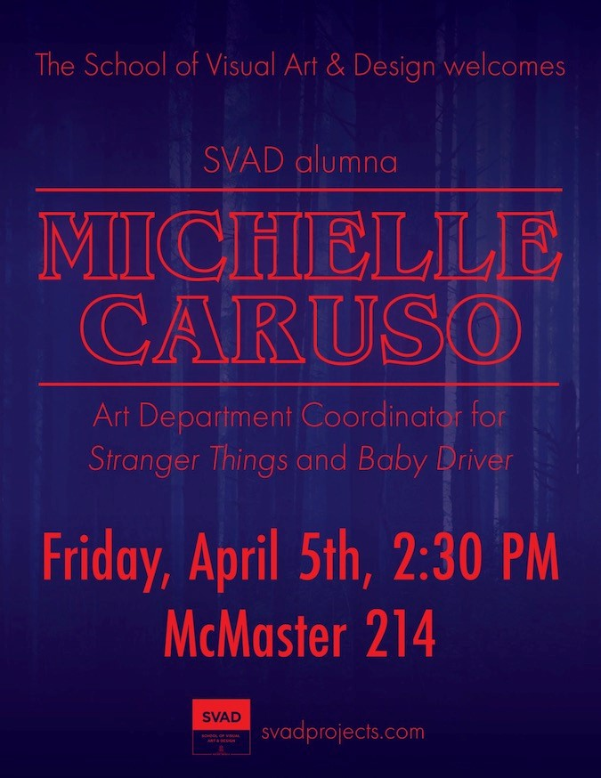 Michelle Caruso speaks at McMaster 214 on April 5, 2019 at 2:30 PM