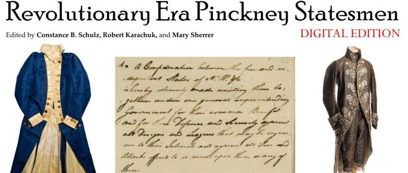 Outfits and writing from the Pinckney collection