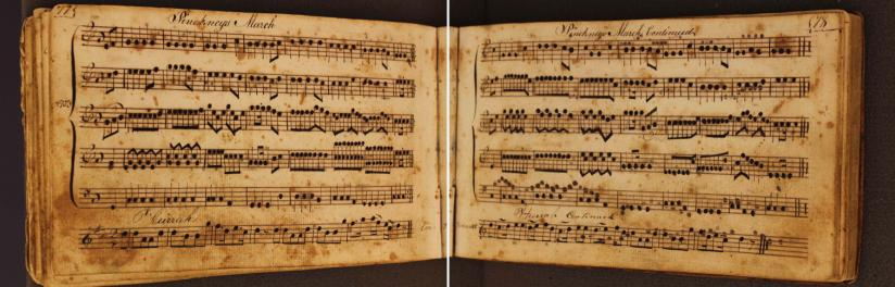 Music book of Morris Woodruff