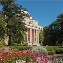 McKissick Museum with spring flowers