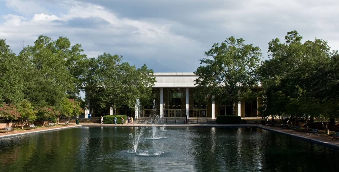 Thomas Cooper Library and the reflecting pool