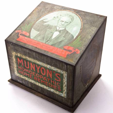 antique homeopathic remedy box