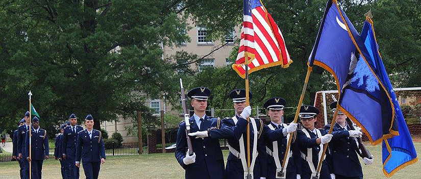 Air Force Cadets in Uniforms as color gaurd