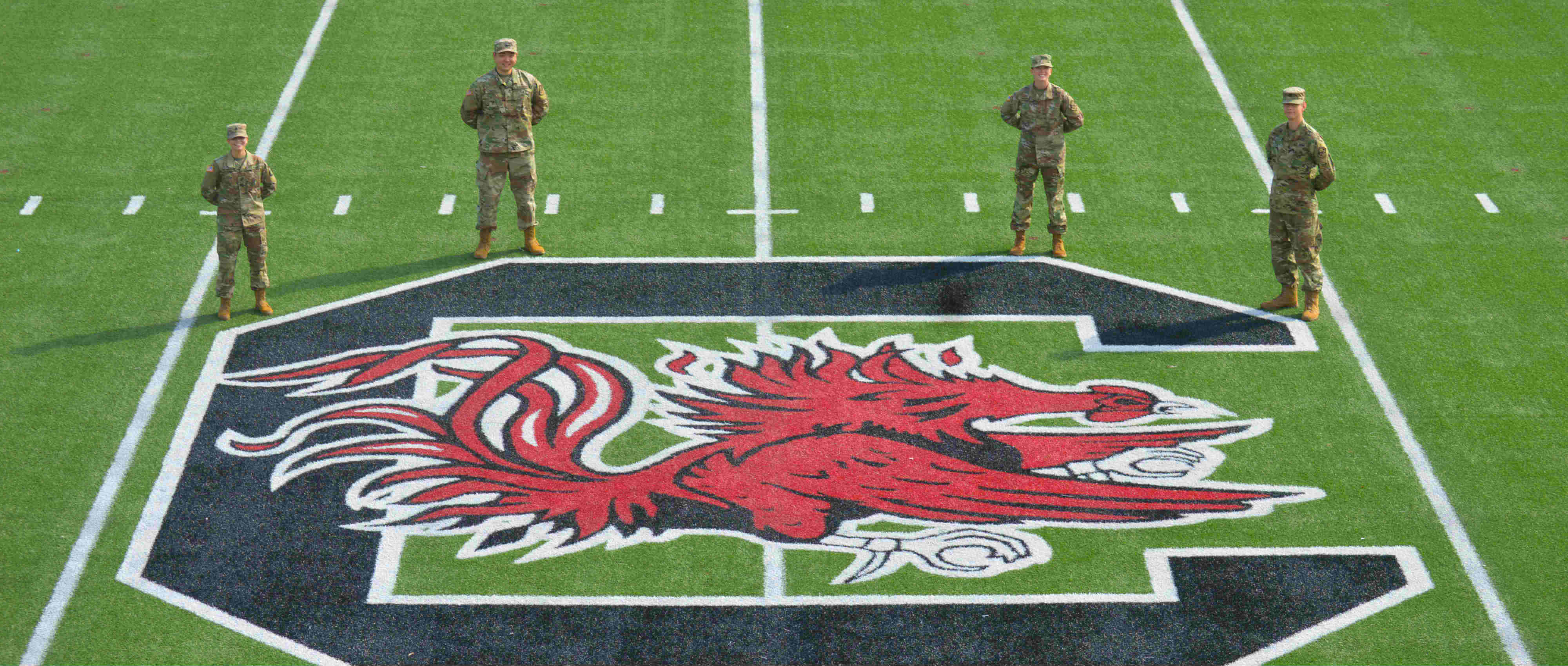 ROTC Cadets on a Football Field