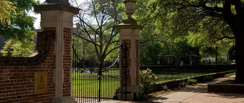 Gates in front of the Horseshoe
