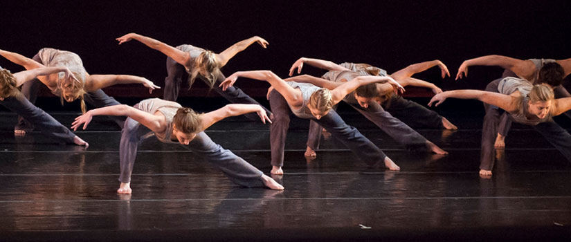 Dance Education students performing on stage