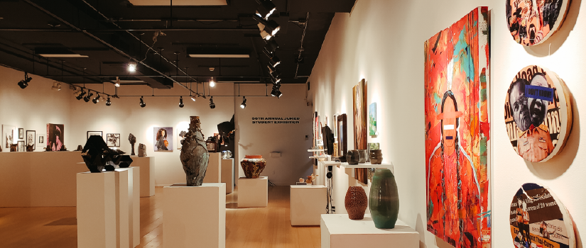 gallery view of student exhibition