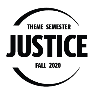 Justice Theme Semester Fall 2020 logo