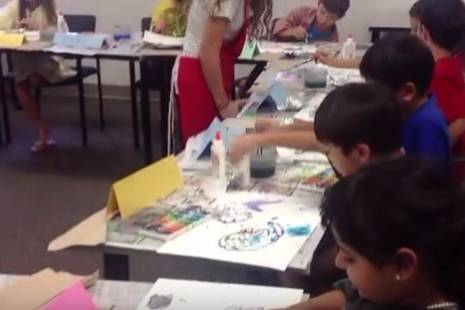 video preview: 8-year-old artists at work