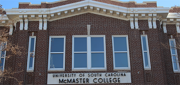 Photograph of facade of McMaster College
