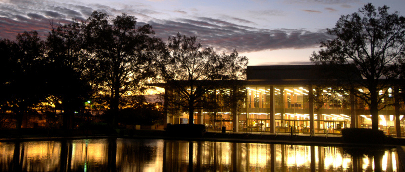 Thomas Cooper Library at sunset