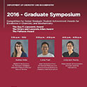Graduate Symposium Finalists Announced
