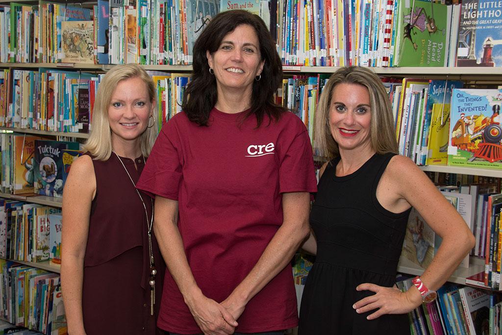 Staff of SCCCBL - (l to r) Kim Jeffcoat, Liz Hartnett and Christine Shelek.