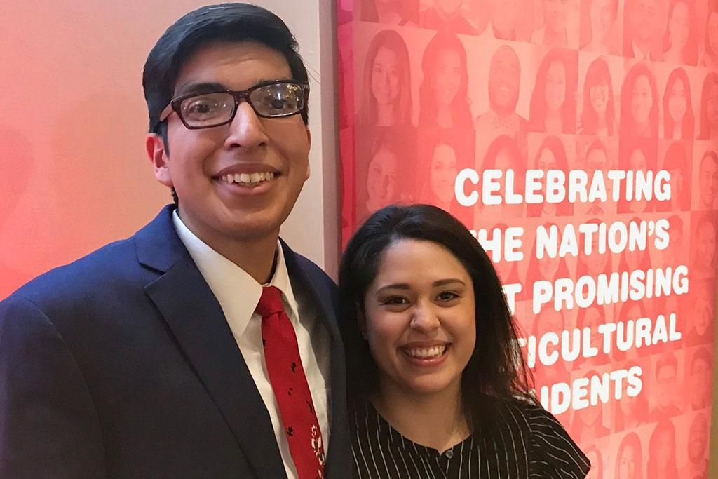 Public relations senior Vanessa Ruiz and advertising senior Pedro Bernardino were recognized as two of the 50 Most Promising Multicultural Students in the nation.