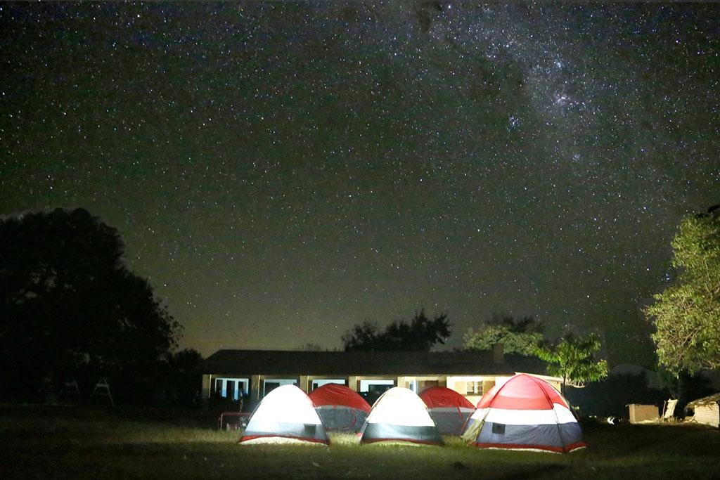 Photo of the starry night in Malawi, Africa, which inspired Janet Tarbox.  Credit: Van Kornegay, visual communications sequence head.