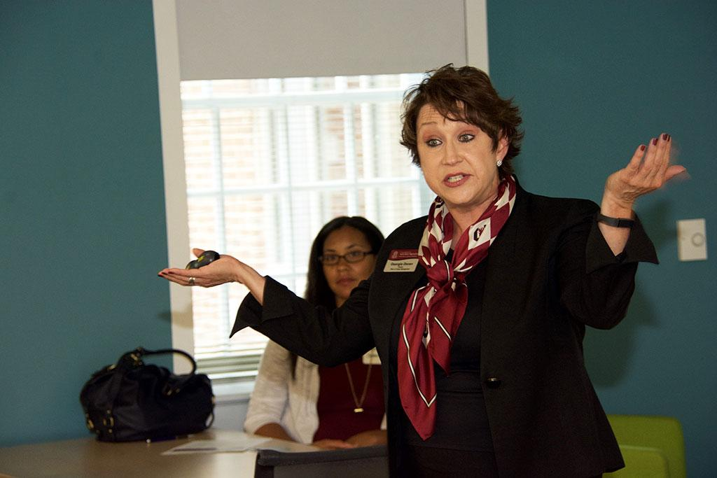 Georgia Doran, director of the Moore School Office of Career Management, was the featured speaker at Mentor March.