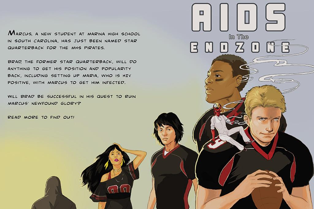 "Graphic Novel of ""Aids in the End Zone""."