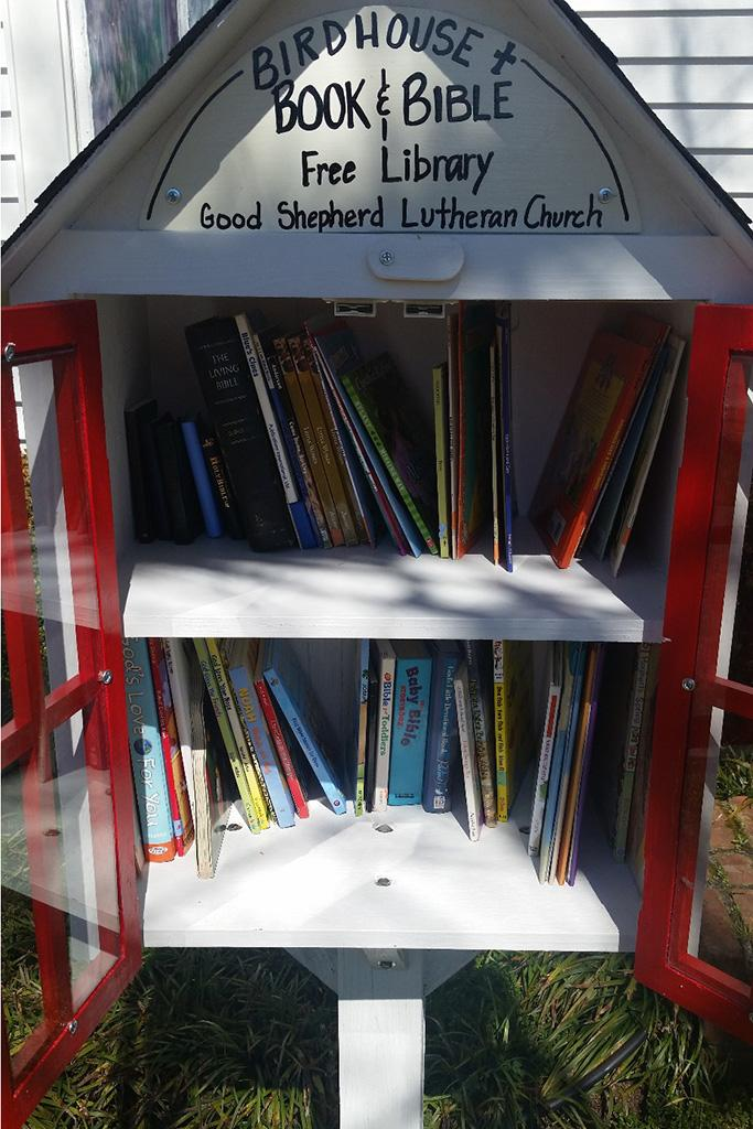 Faith Black built a Little Free Library in Swansea, South Carolina.