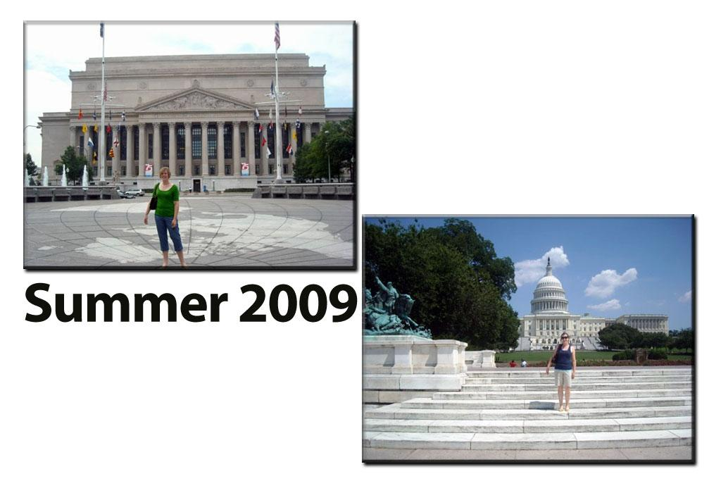 Emily Avery's first trip to the Library of Congress was in 2009 while she was working on her honors thesis.  While in Washington, she also visited the Capitol and the National Archives