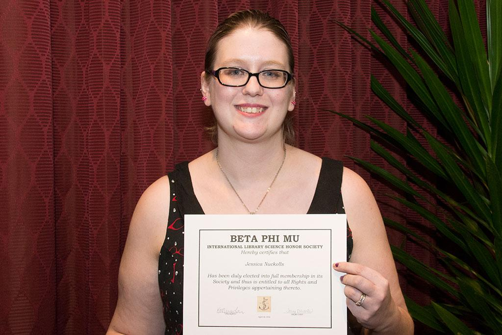 Jessica Nuckolls was initiated into Beta Phi Mu.