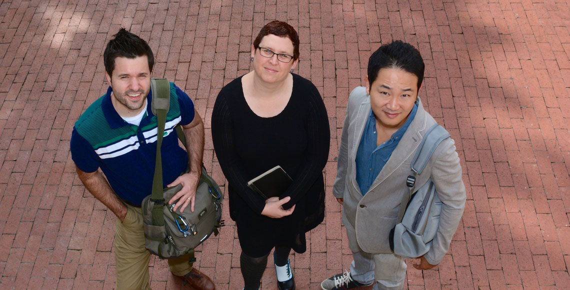 Three new faculty members.