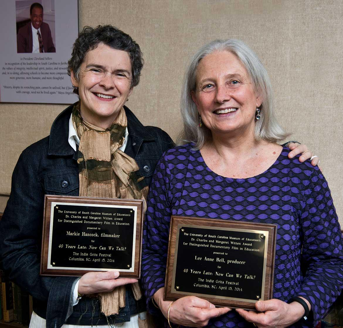 L-r:  2014 Witten Award recipients Markie Hancock and Lee Ann Bell