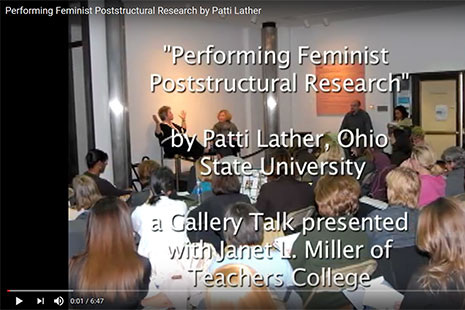 Patti Lather Performing Feminist Poststructural Research