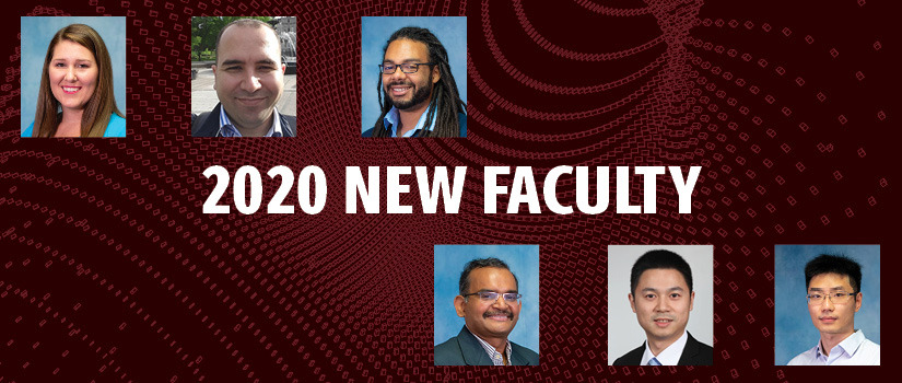 Image of multiple faculty headshots - Caizhi Zhou, Kristin Booth, Yavuz Yapıcı, Biplav Srivastava, Forest Agostinelli and Qi Zhang