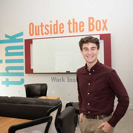 Kevin Gagnon in the think tank lab