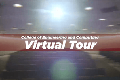 College of Engineering and Computing Virtual Tour, auditorium in the background