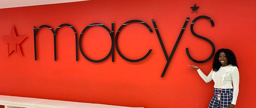 An HRSM retailing student spends her summer working at Macy's.