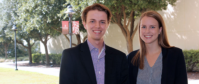 David Brake and Morgan Bueter are Magellan Scholars in the Department of Sport and Entertainment Management