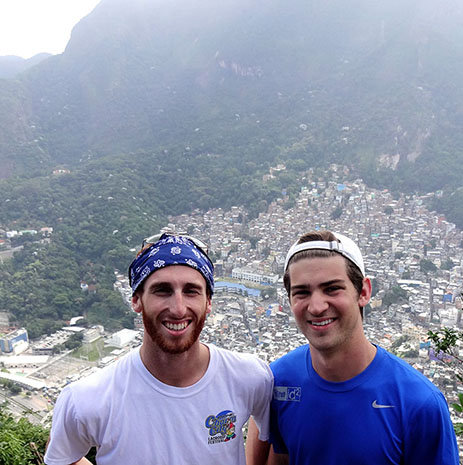 Magellan Scholars Jack Mitchell and Joseph Gelay in Brazil