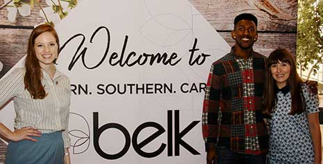 Tyler Hall at the HRSM Experience Expo representing Belk
