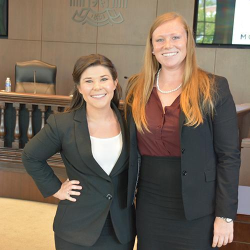 Second-year students Megan Rudd and Olivia Hassler represented the state of South Carolina.