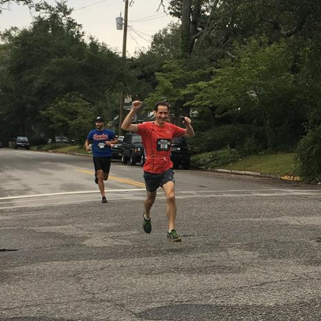 Runners followed a course throughout the Shandon neighborhood in Columbia.