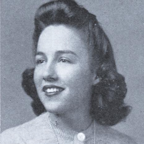 Sarah Graydon McCrory in her 1944 yearbook photo.