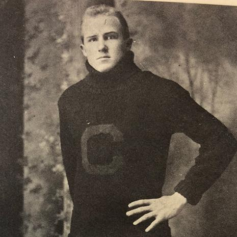 Clint Graydon, Sarah's father graduated from the law program in 1913. Here he is pictured in his Carolina Gamecocks football uniform.