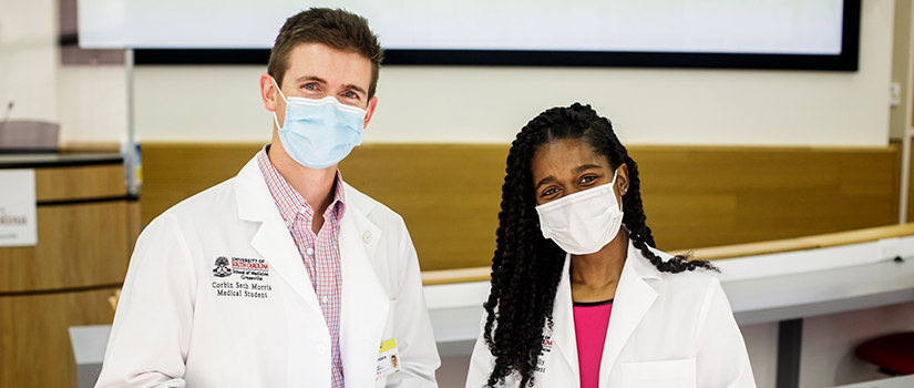 students of UofSC school of medicine Greenville