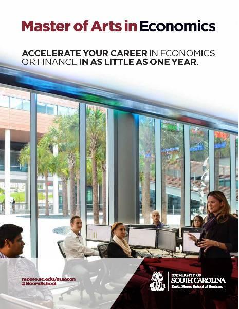 Master of Arts in Economics - Darla Moore School of Business