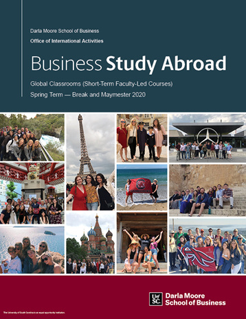 Cover of the Study Abroad booklet for short-term study abroad experiences