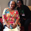Dr. Johnson with Margaret Pleasant Douroux