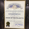Donald Portnoy receives South Carolina's highest honor