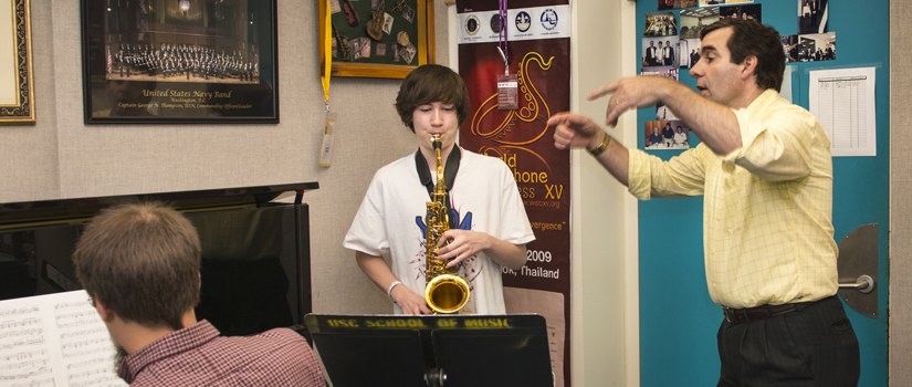 Carolina Summer Music Conservatory saxophone lesson