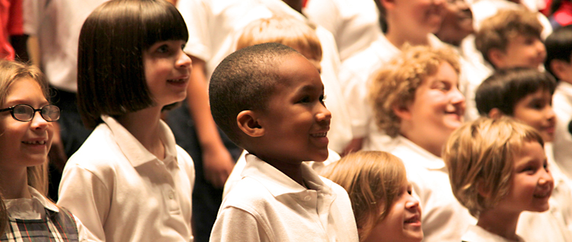 elementary school children in Honors Chorus