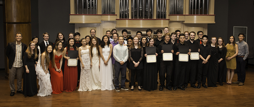 2016 Chamber Music Day participants and coaches