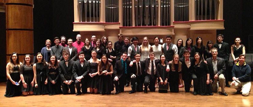 2015 Chamber Music Day participants and coaches