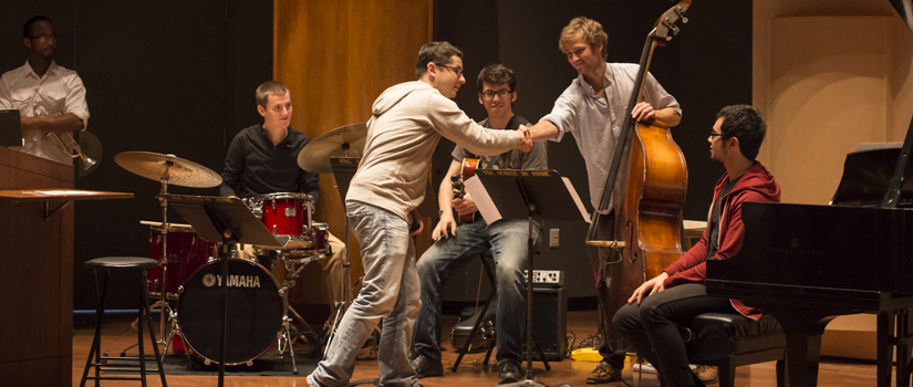 jazz students with Eldar Djangirov