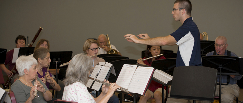 New Horizons Band student conductor