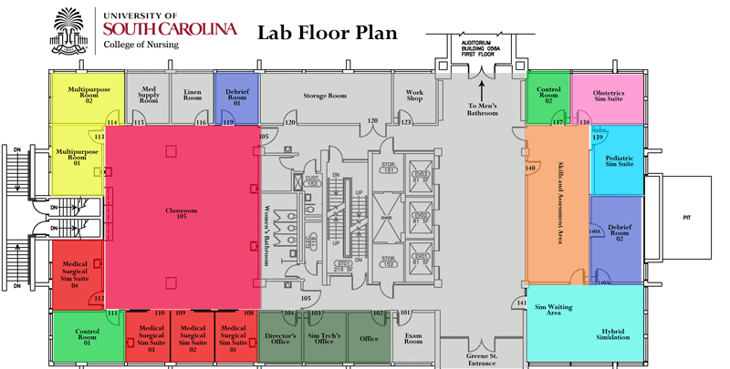 Clinical Simulation Lab Floor Plan